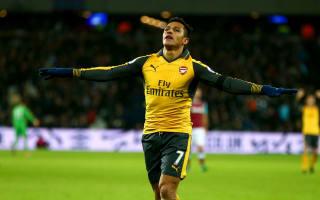 West Ham 1 Arsenal 5: Sanchez hat-trick sends Gunners second