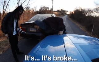 Bam Margera prangs his beloved Lamborghini Murcielago