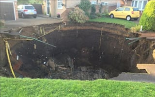 Huge sinkhole swallows up garden in St Albans