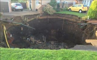 Huge sinkhole swallows up garden in St Albans