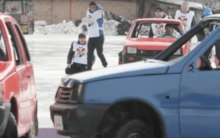 Russians invent best winter sport ever