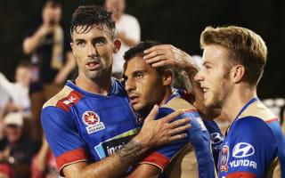 Newcastle Jets 2 Melbourne City 1: Nabbout double sends Jones' men sixth