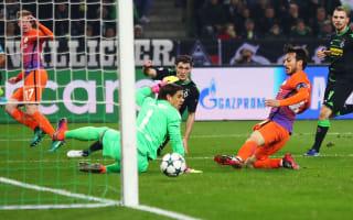 Borussia Monchengladbach 1 Manchester City 1: Silva serves up qualification for Guardiola's men