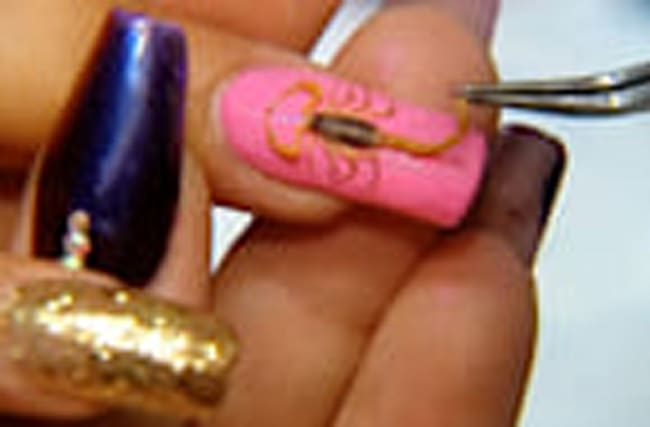 Scorpion nails manicure