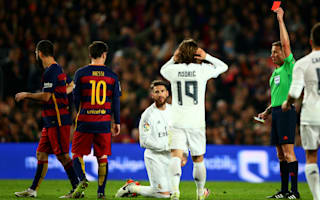 Pique blames Sergio Ramos red for Barcelona defeat