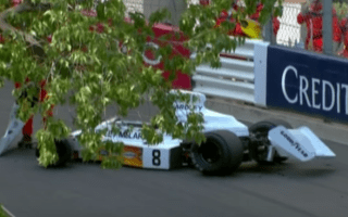 Mayhem at Monaco as vintage McLaren dropped from crane