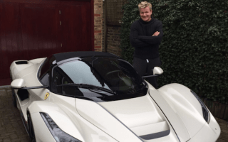 Gordon Ramsay takes delivery of LaFerrari Aperta