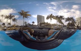 Lamborghini cruises through Miami in 360-degree video