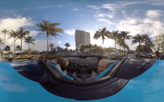 Lamborghini cruises through Miami in 360-degree video