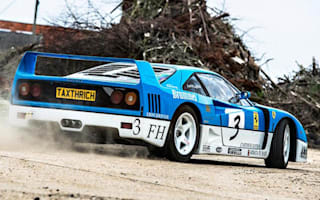 Ferrari F40 driven hard in farmyard drifting video