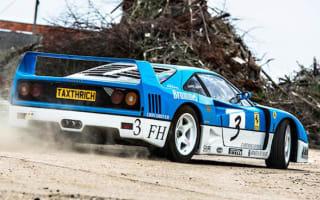 Ferrari F40 driven hard in farmyard drifting video