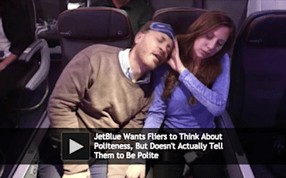 Low-cost airline teaches passengers what not to do on a plane