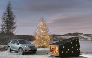 Land Rover designs festive cabin to fit in Discovery Sport