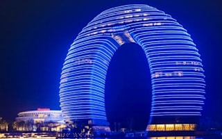 China's newest hotel? A 'glowing doughnut'