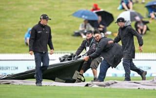 New Zealand make decent start before rain abandons play