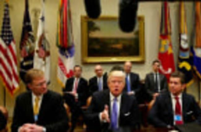 Trump reafirms deregulation and tax cuts