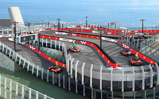 Ferrari create a karting track on-board a cruise liner