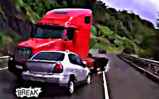 Dashcam compilation shows numerous high-impact crashes