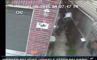 Dodgy delivery driver caught on camera