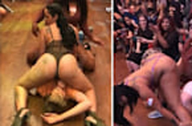 V LIVE STRIP CLUB HAPPY FAN GETS DOUBLE-TEAMED In Wild Memphis Casting Call