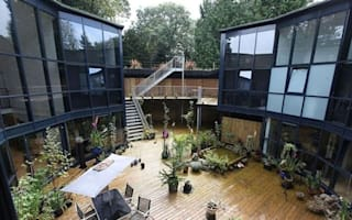 Former underground water tank converted into luxury home