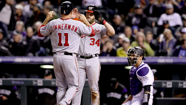 Turner hits for cycle as Nationals beat Rockies 15-12