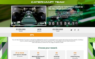 Caterham team selling F1 kit to raise much needed funds
