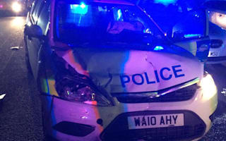 Thieves steal police car and lead officers on 200-mile chase