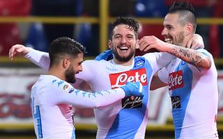 Seventh heaven for record-breaking Napoli as Hamsik and Mertens net hat-tricks