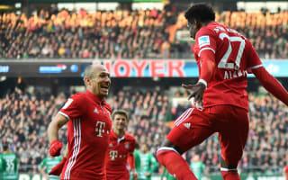 Werder Bremen 1 Bayern Munich 2: Robben, Alaba extend winning streak
