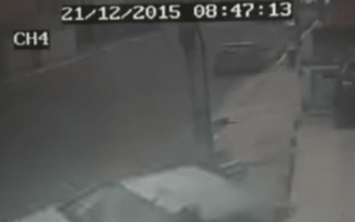 Pedestrians narrowly avoid out of control car in Brazil