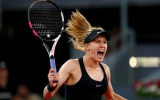 Bouchard stuns Sharapova to set up Kerber clash, Pliskova bows out