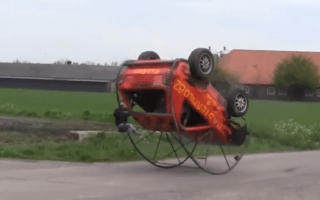 Flippin' hell: Dutch enthusiasts create somersaulting Golf
