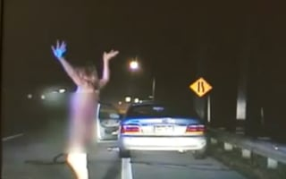 Video: cops arrest topless woman after 128mph chase
