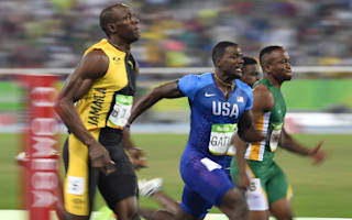 Rio 2016: Runner-up Gatlin happy to hang with 'young guys' in 100m