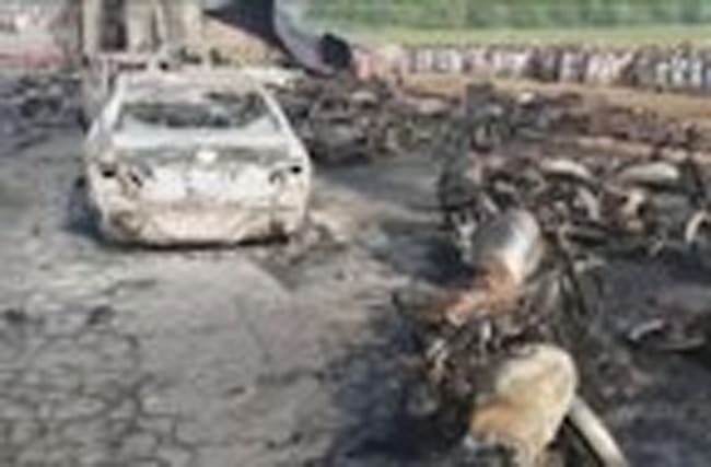 Over 130 killed by overturned tanker fire