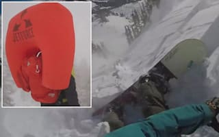 Snowboarder saved from avalanche by inflatable backpack
