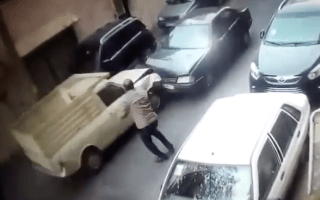 Truck driver smashes multiple cars after driving wrong way down street