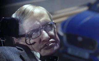 Professor Stephen Hawking plays villain in new Jaguar advert