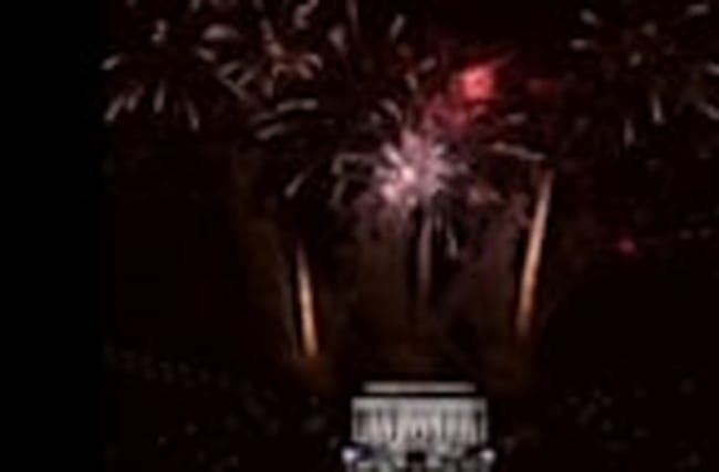 Trump Sweeps in for his Big Day with Fireworks