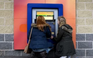 Britain's lowest cash machine - 15 inches off the ground