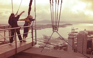 Pictures: Beyoncé does freefall jump from New Zealand's Sky Tower