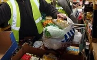 Demand for foodbanks 'triples'