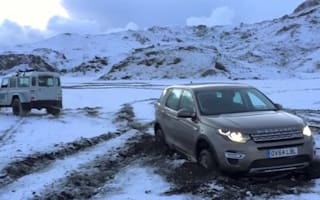 Land Rover Discovery Sport has to be rescued by Defender