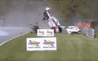 British GT driver walks away from massive crash