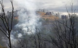 US wildfire burning down tourist cabins