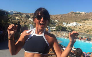 Davina McCall dances in her bikini in funny holiday video