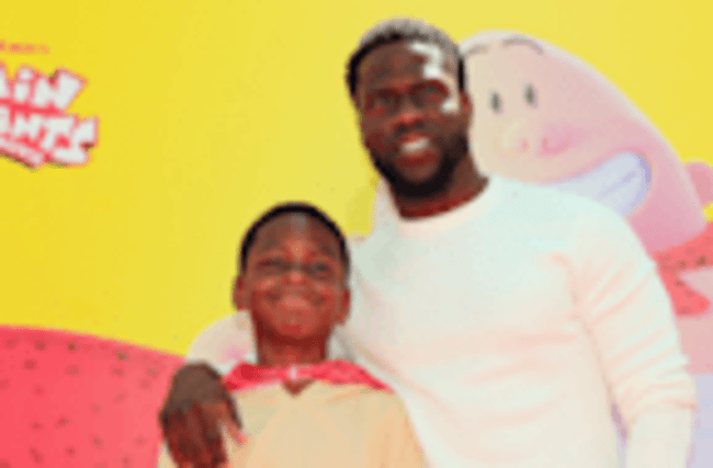 Kevin Hart Brings Look-Alike 9-Year-Old Son to 'Captain Underpants' Premiere