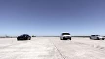 Adivina quién gana esta carrera entre un Tesla, un Ferrari y una furgoneta