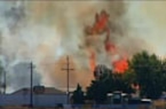 Local media: Idaho firefighters battle blaze near Boise airport